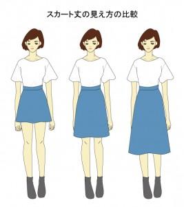 ひざ丈スカート2