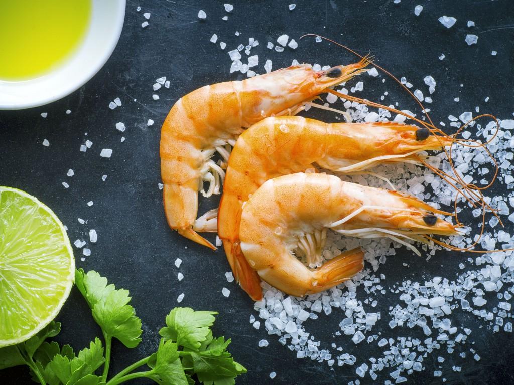 37680324 - seafood on dark background