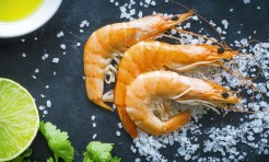 37680324 - seafood on dark background