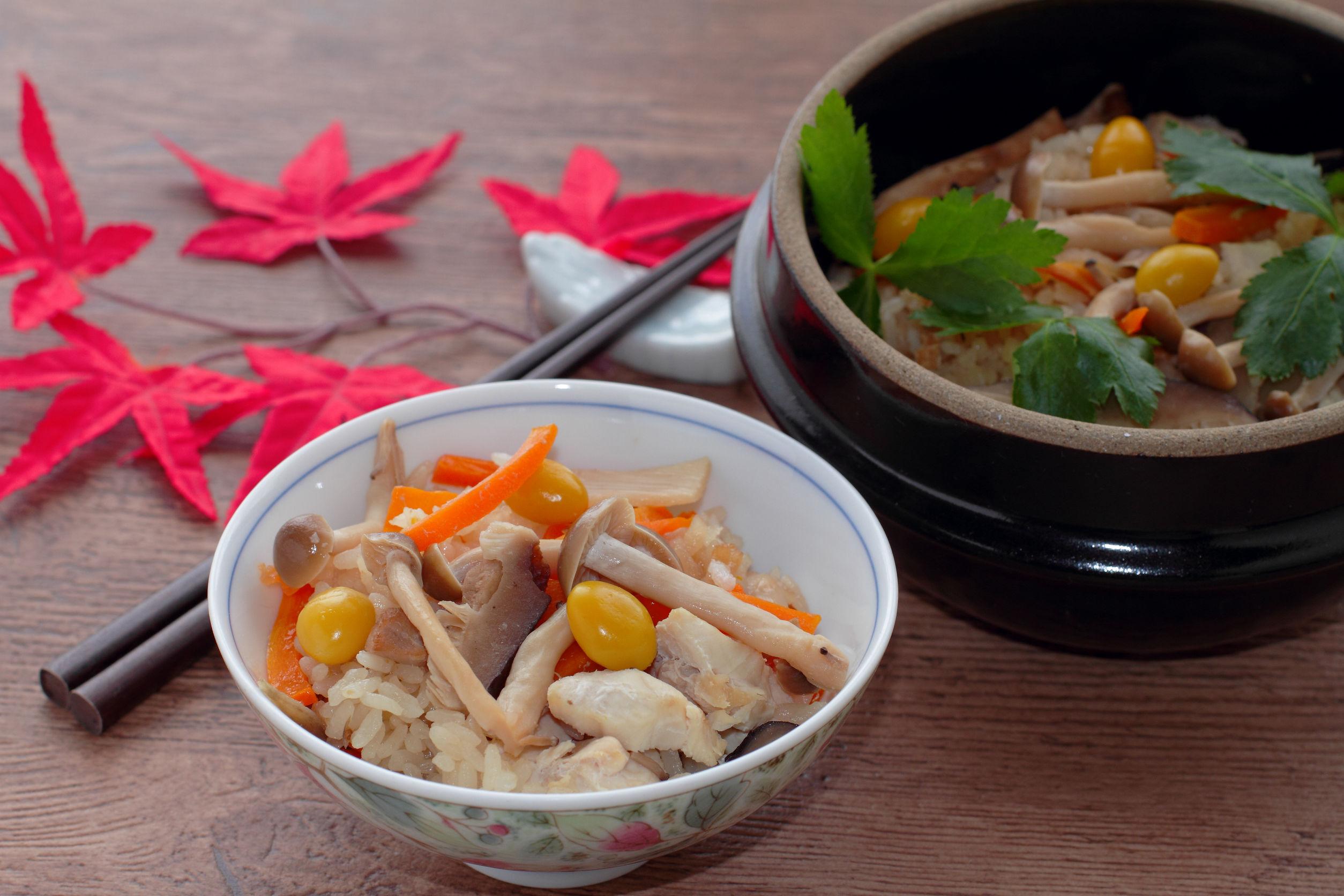 31398934 - japanese cuisine, takikomi gohan chicken and mushroom rice
