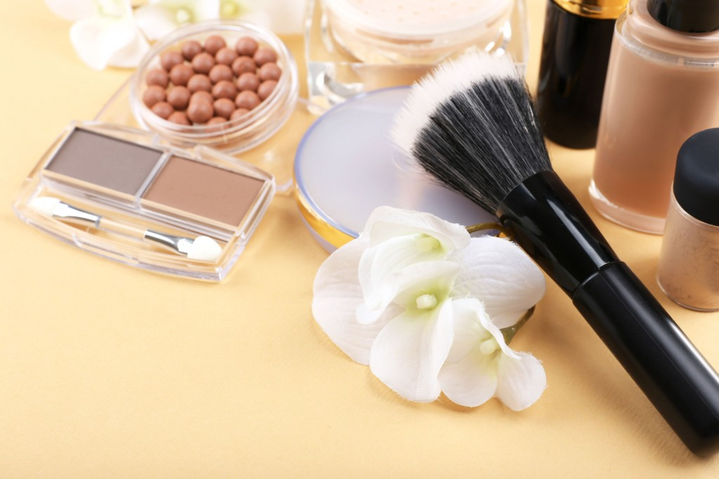 34257303 - basic make-up products, close-up