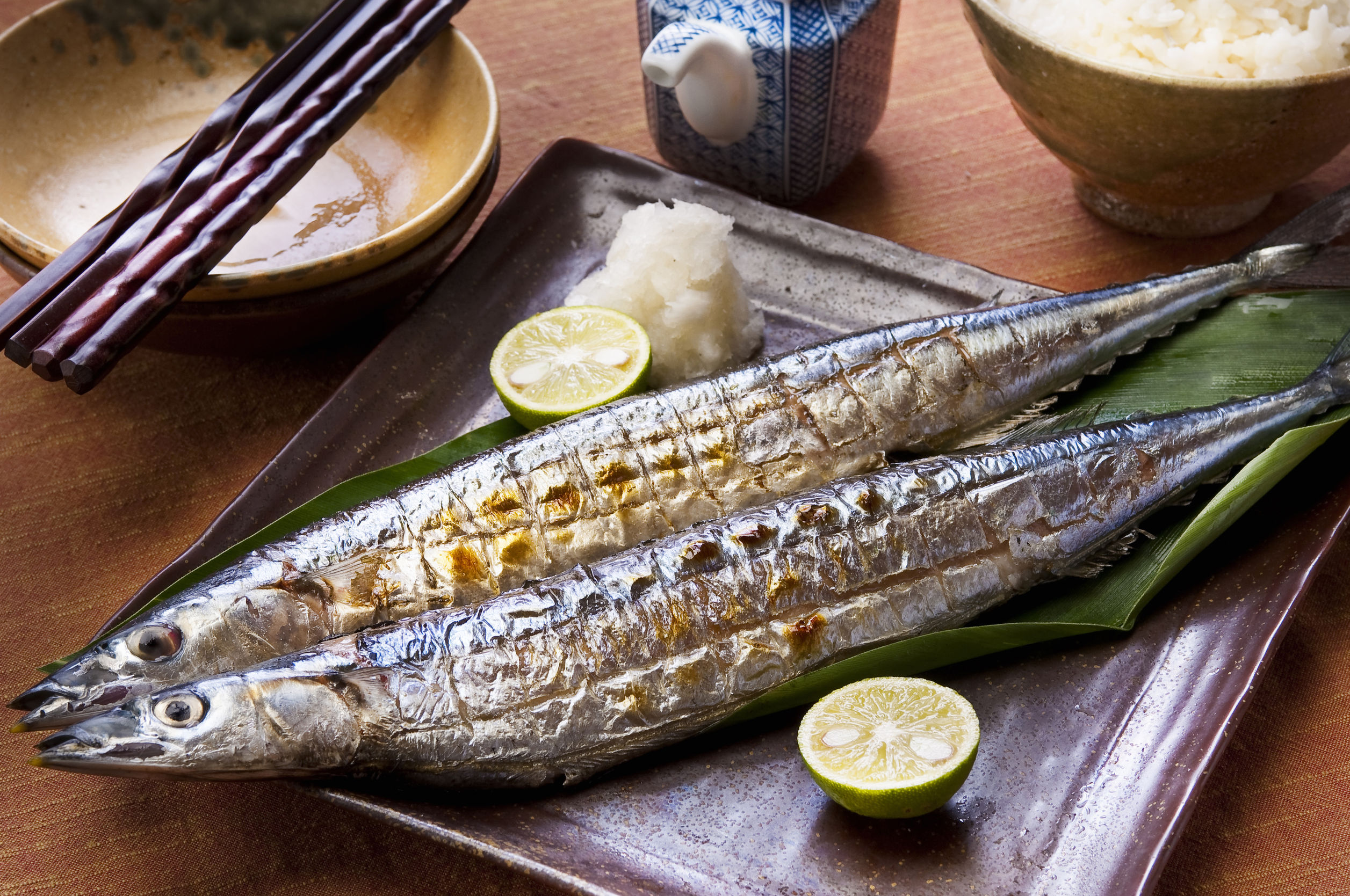 46404528 - grilled salt saury
