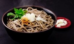17385523 - japanese buckwheat noodles in hot soup