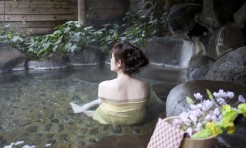 42596869 - yufuin onsen and women