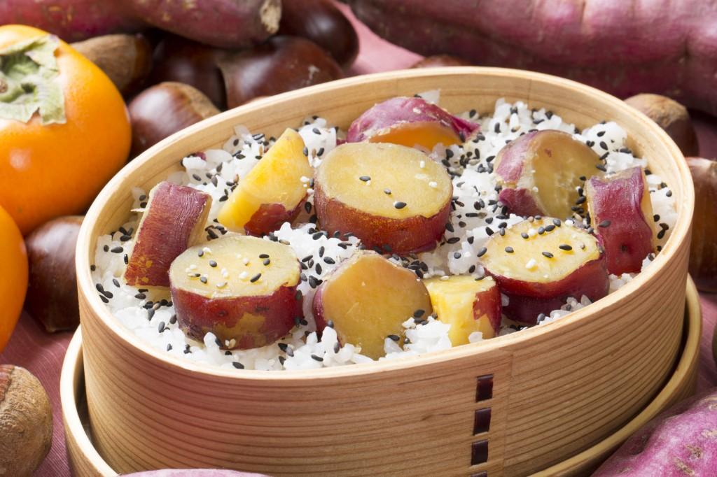 49454315 - sweet potato rice