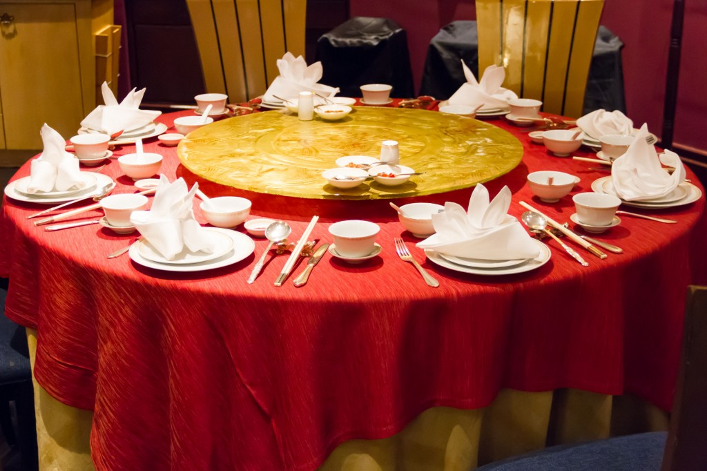 26098068 - chinese style dinner table
