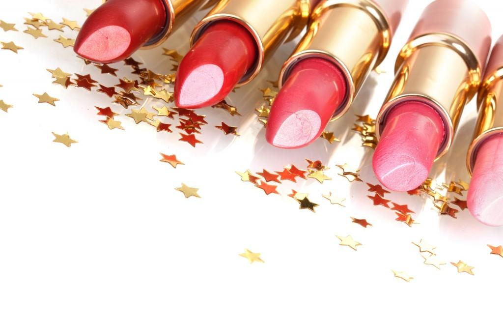 13810175 - beautiful lipsticks isolated on white