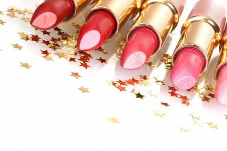 13810175 - beautiful lipsticks isolated on white