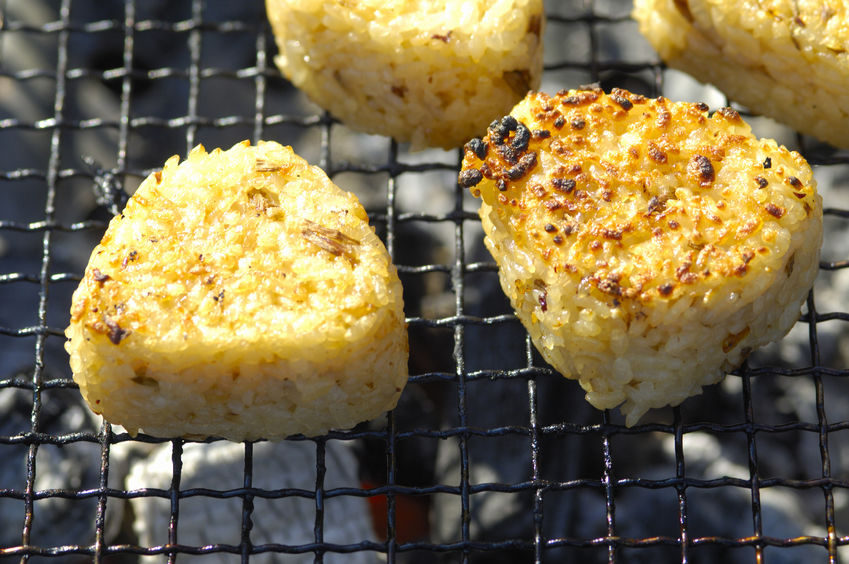 46758684 - grilled rice ball