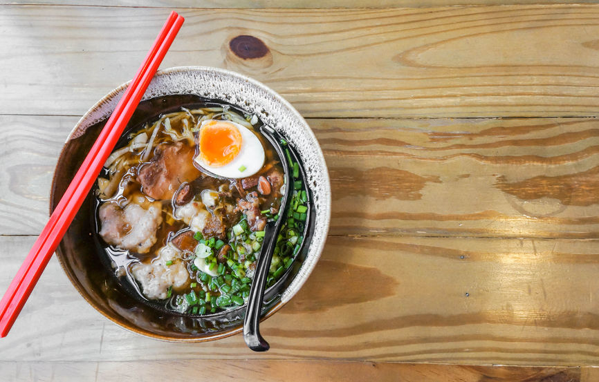 57945096 - japanese style pork noodle add boiled egg