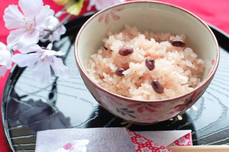 18616852 - japanese cuisine sekihan, sticky rice steamed with azuki beans