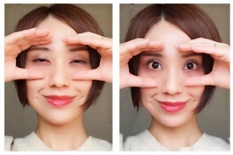 """""""輝く瞳""""が出会いの春を制す!ぱっちり目に導く顔ヨガ"""