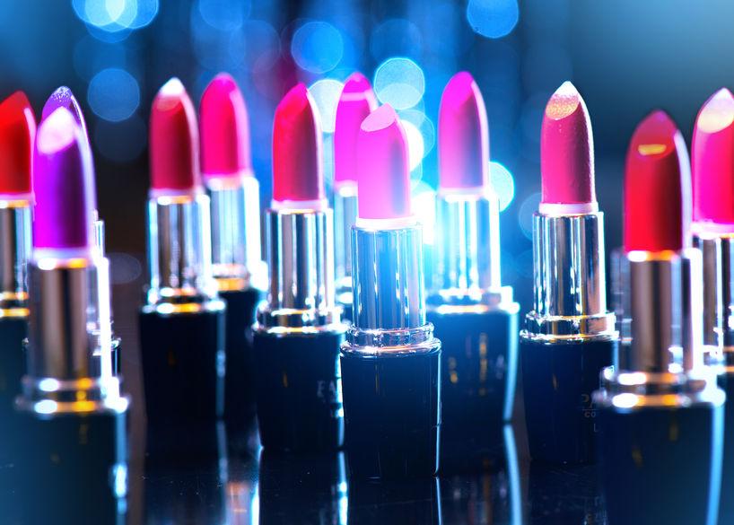 48483591 - fashion colorful lipsticks. professional makeup and beauty