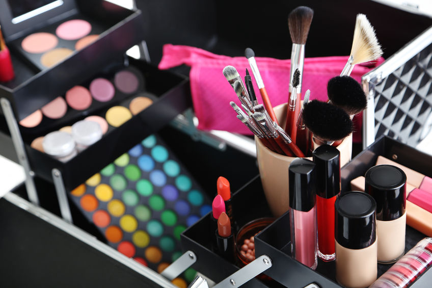 46917869 - make up case with cosmetics
