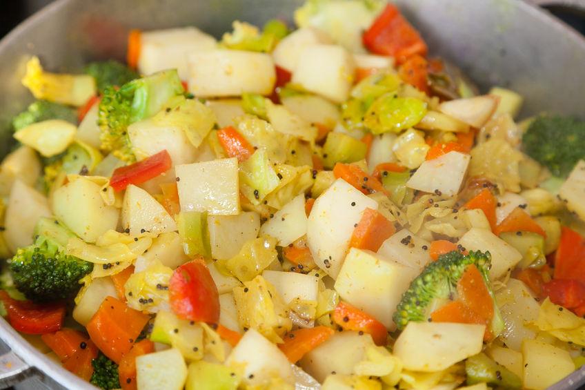 61060610 - closeup of indian vegetable dish sabzi