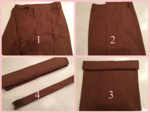 スカートの収納