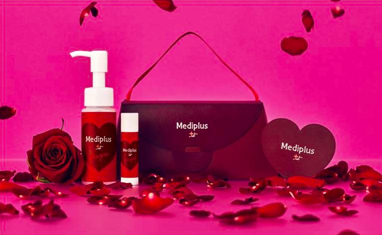メディプラス バレンタインギフトセット Kiss me Valentine メディプラスゲル ミニ 45g、メディプラス リップクリーム 3g