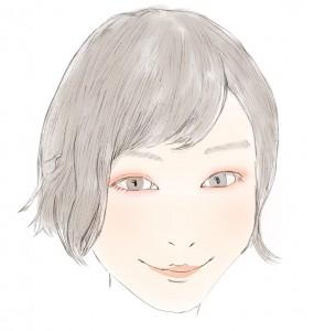 すっぴん風メイク(アレンジ)