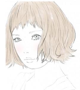 丸顔の方やホームベース顔の方などは輪郭を強調しやすいので、前髪を短く切る場合は、眉より上に切ると縦長に見えるのでおすすめです