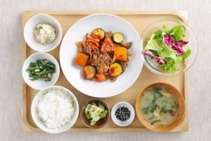 外食の際は、「定食」を食べる