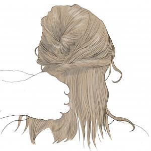 (2)と同じように、くるりんぱをしていきます。くるりんぱをした後は、細かく毛束を引き出して、ほぐしてあげましょう