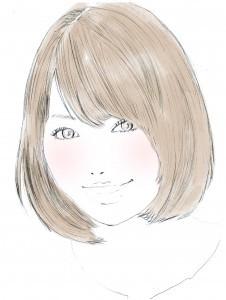 前髪を流したスタイルの方は、流している部分だけではなく、それ以外の顔周りも前髪としてとらえると、ふんわり前髪をつくりやすいです