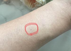 筆者の手にあるシミを使って、ブラシの使い方をお伝えします。赤い丸で記した部分が今回消すシミです