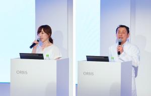 写真左)オルビス商品企画部部長 西野さん写真右)ポーラ化成工業研究員 多田さん