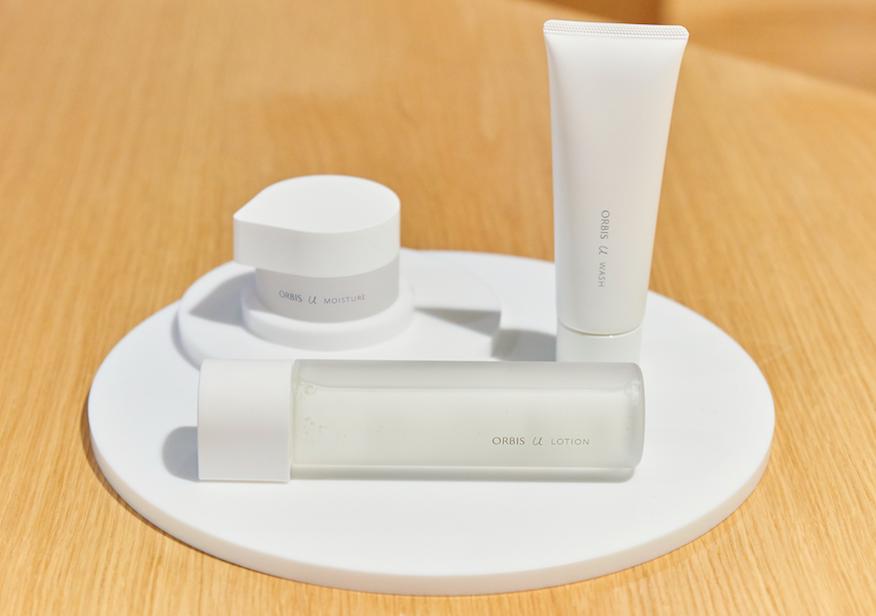 新オルビスユーのラインナップは、「ウォッシュ」(洗顔料)、「ローション」(化粧水)「モイスチャー」(保湿液)の3アイテム。