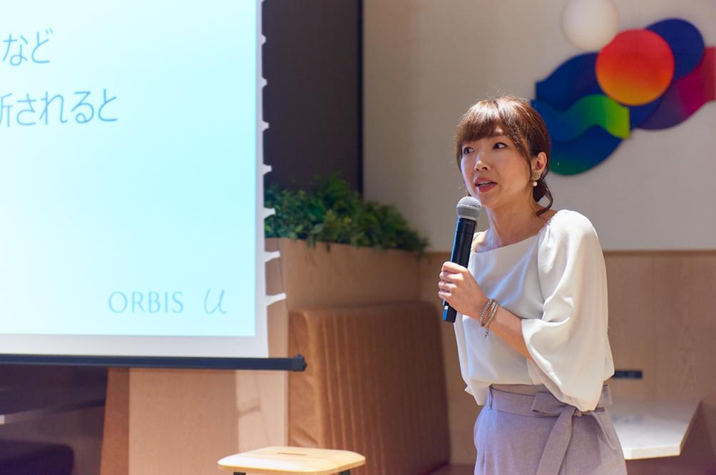 オルビス・ザ・ショップ チーフトレーナーの島田久美子さん