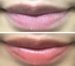 画像カラーは「アプリコット」で、健康的な印象を与えてくれる色味です。唇のボリュームアップをサポートする成分を配合したリップクリームなので、ふっくらとした仕上がりになります