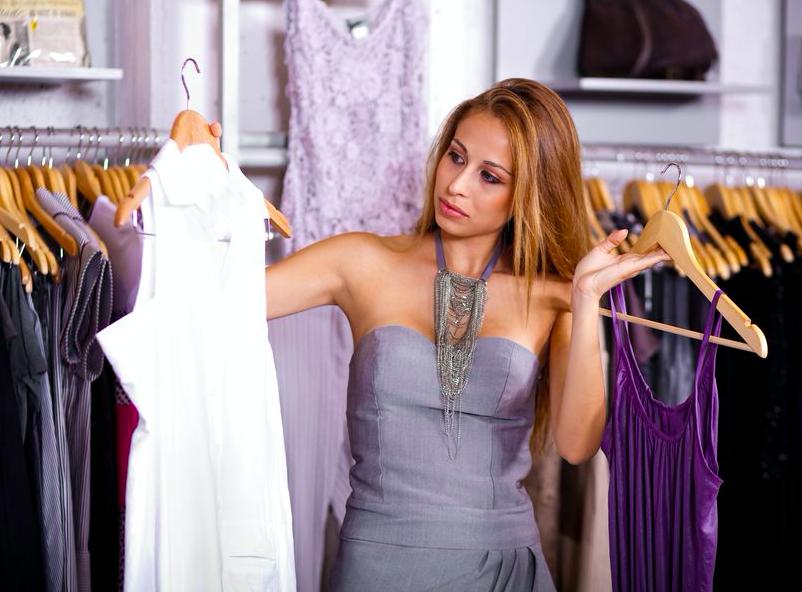 closet fashion woman