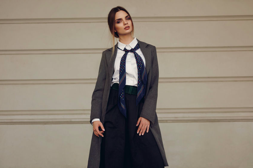 コートからチラ見せ!長め丈スカートが即こなれるコーデ術
