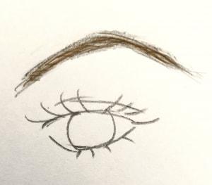 極端に眉山が上がっている眉は、顔の印象をキツく見せてしまいます