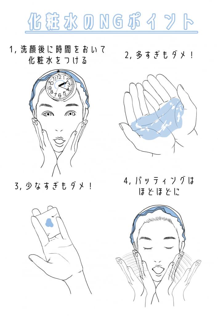 化粧水の正しい塗り方