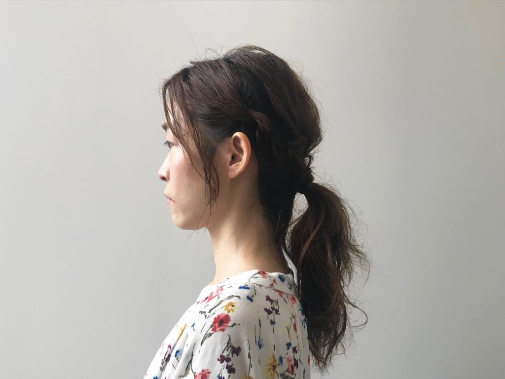 3stepでできる一つ結びのヘアアレンジ術