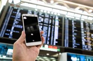 空港内での携帯電話の注意