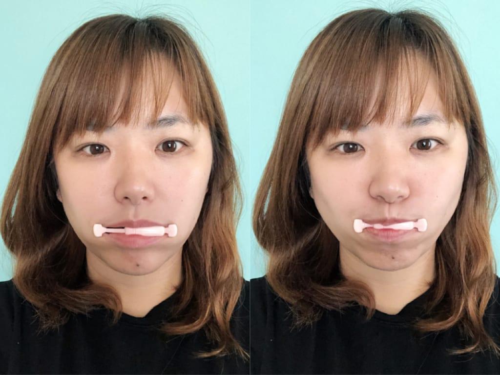 実際に使ってみると、頬や口周りの筋肉にしっかりアプローチできている感じがしました。これを毎日つづければ、フェイスラインの引き締めも期待できます