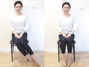 足が写る場合は、斜め&甲見せで足長効果を