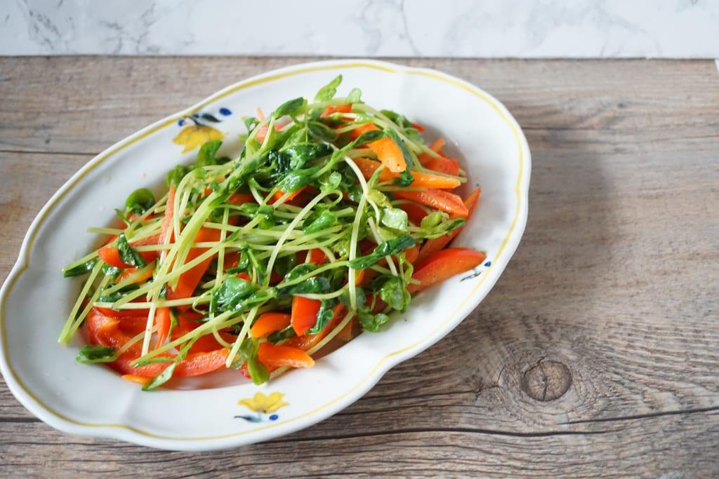 ビタミンAが豊富な「にんじん」や「赤パプリカ」と一緒に塩をふってオリーブオイルやごま油でサッと炒めるだけでも美味しいですよ