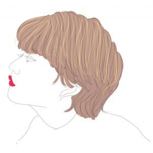 髪をおろしていて白髪が気になるところといえば、分け目ですよね。そのため、全体にハイライトを入れるのではなく、分け目部分の白髪が目立たないように表面にだけハイライトを入れてみてください