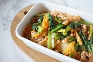 小松菜の豚キムチ