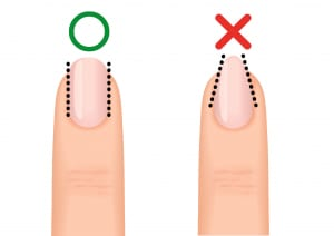 爪の正しい整え方