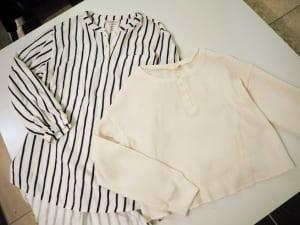 ワッフル地のカットソーは、今年トレンドでもあるアイテムです。裾広がりのシルエットなので、ウエストインせずに着ることが可能です