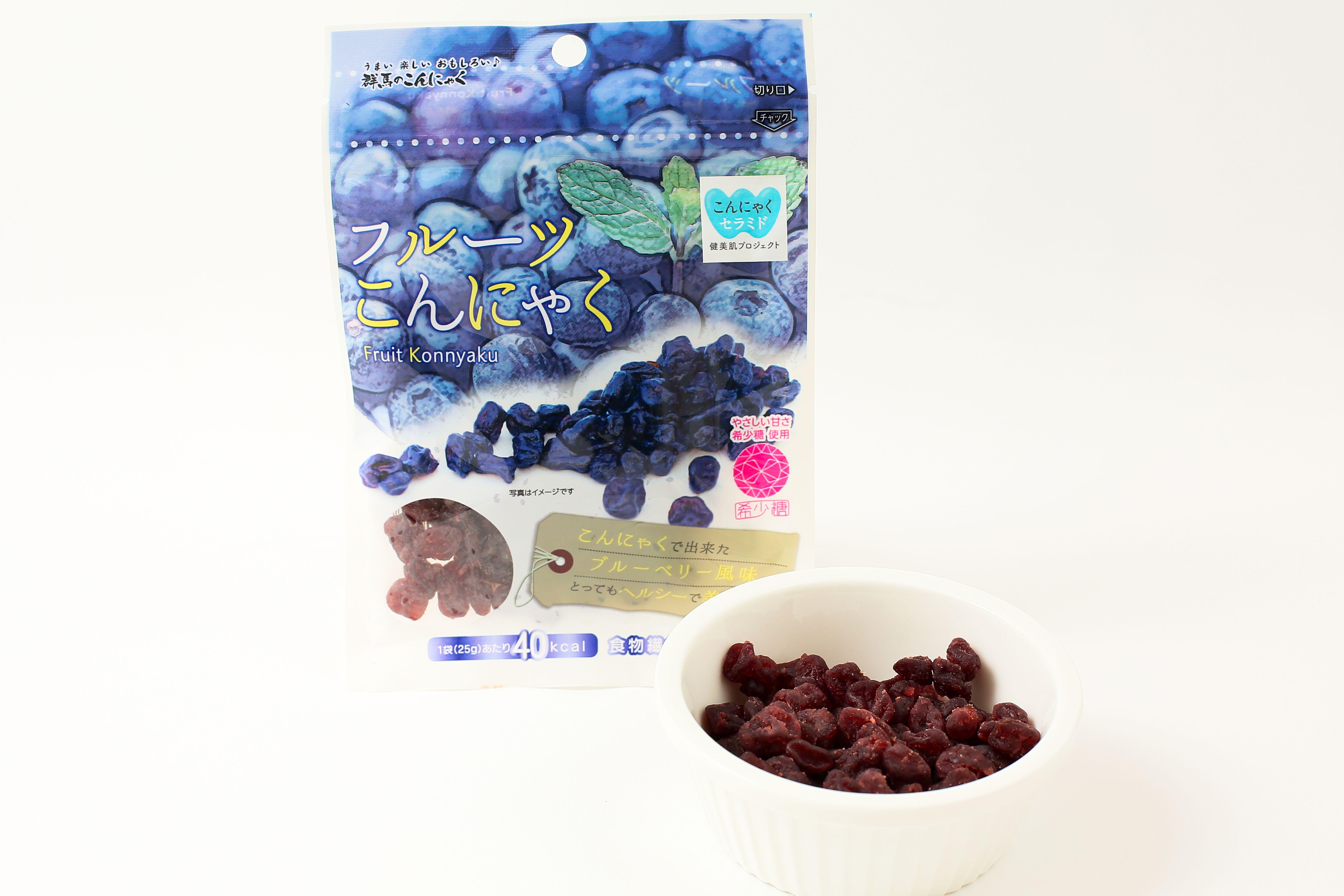 フルーツこんにゃく こんにゃくセラミドplusブルーベリー味