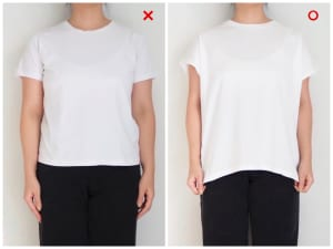 ドロップショルダーなTシャツを選ぶ