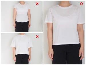 Tシャツの素材も、着やせするかどうかを左右する重要な要素です
