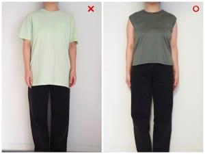 腰骨丈のTシャツを選ぶ
