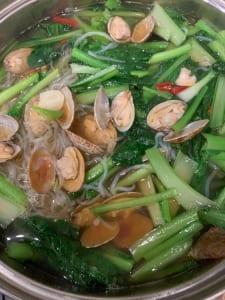 あさりと小松菜のお鍋