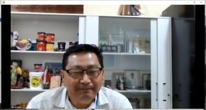 続いて、ブラジルの生産者である、トメアス総合農業協同組合 理事長 乙幡(おっぱた) アルベルト 敬一さんよりビデオメッセージをいただく予定でしたが、オンラインで地球の裏側から生でご挨拶をいただきました